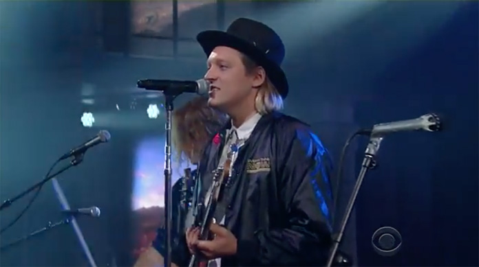 watch arcade fire perform two songs on colbert and share new