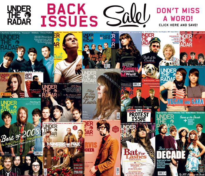 Under the Radar Back Issue Sale - Save 30% On Select Issues