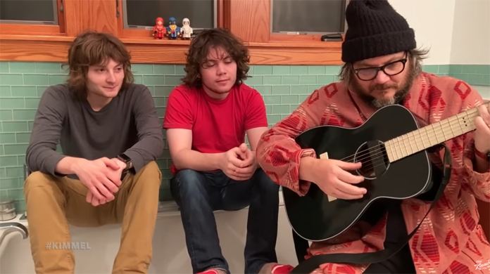 """Watch Wilco's Jeff Tweedy and His Sons Perform """"Evergreen"""" in Their Bathroom for Jimmy Kimmel"""