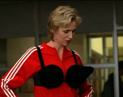 "Glee's Sue Sylvester takes on Madonna's ""Vogue"""