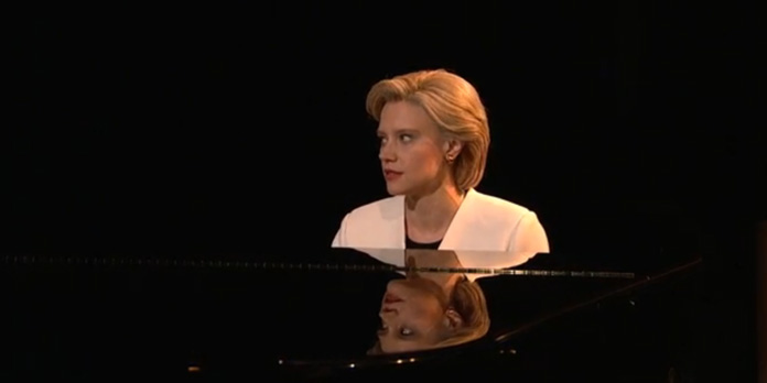 "To open last night's Saturday Night Live Kate McKinnon both commented on the election and paid tribute to Leonard Cohen by covering his most famous and beautiful song, ""Hallelujah,"" while in character as Hillary Clinton."