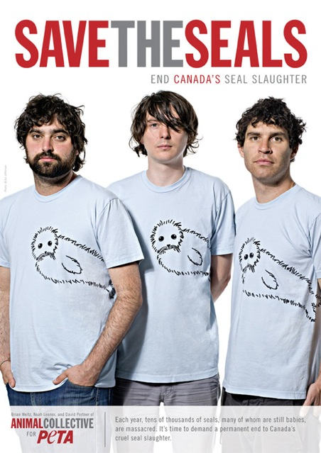 Animal Collective Oppose Seal Hunting in PETA Ad